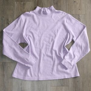 L.L.Bean Sz L Women's Purple Long Sleeve Mock Neck